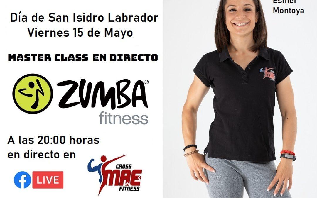 """Viernes 15 """"Día de San Isidro"""", MASTERCLASS en Directo de ZUMBA en Cross MAE Fitness"""