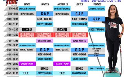 Nuevo Horario de Otoño-Invierno 2020-2021 en Cross MAE Fitness