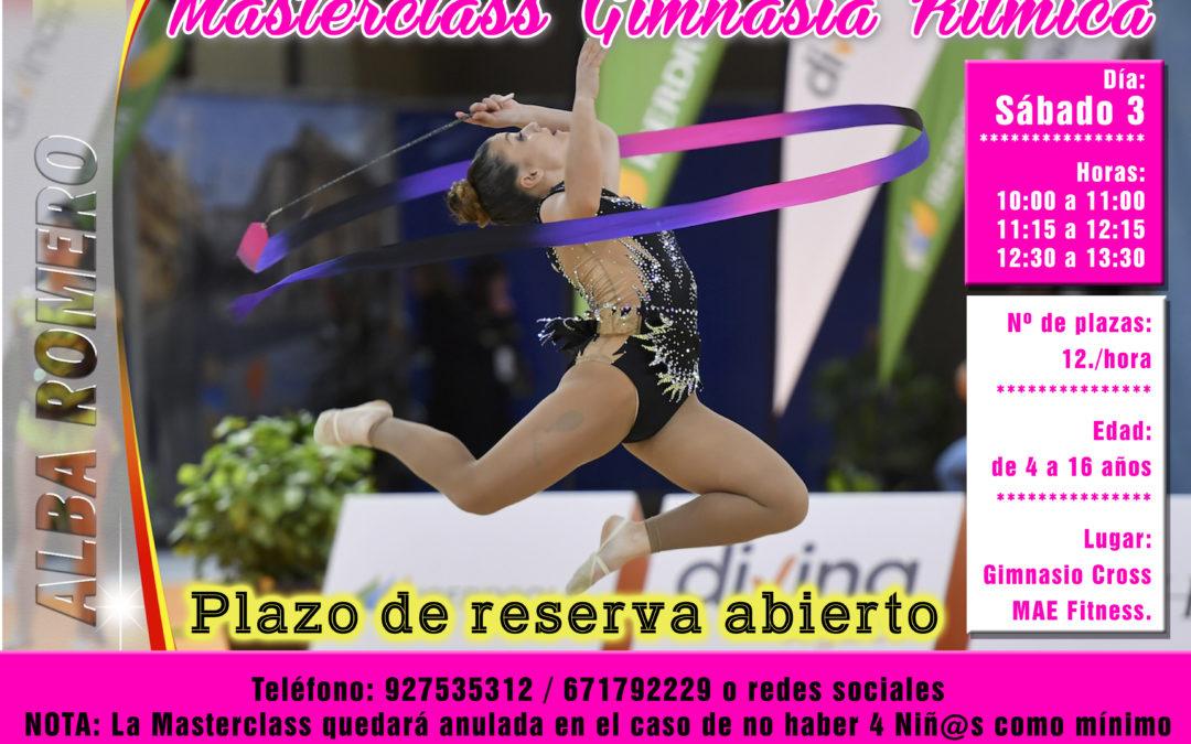 Masterclass de Gimnasia Rítmica este sábado con Alba Romero